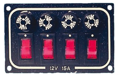 Switch panel, 4 switches